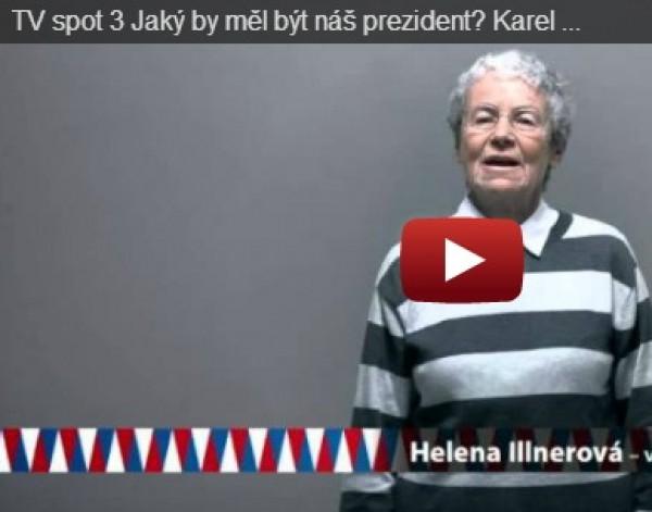 TV spot 3 Jaký by měl být náš prezident? Karel Schwarzenberg